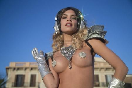 silver godess disco woman