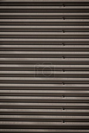 Photo for In  australia the texture of metal corrugated wall like background surface - Royalty Free Image