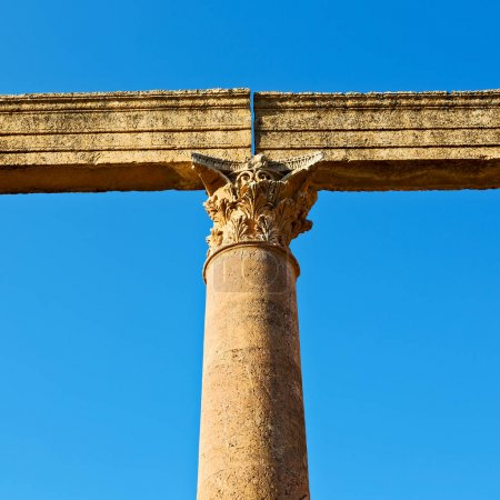 Photo for In jerash jordan the antique column and archeological site classical heritage for tourist - Royalty Free Image