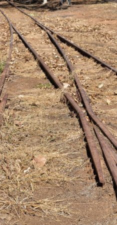 in   australia  the old abandoned railroad in the nature