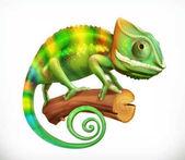 Chameleon 3d vector icon