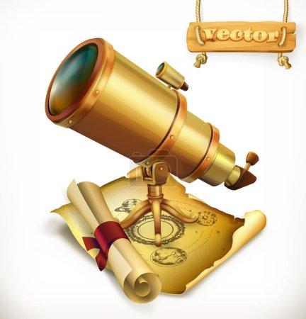 Golden horoscope and telescope