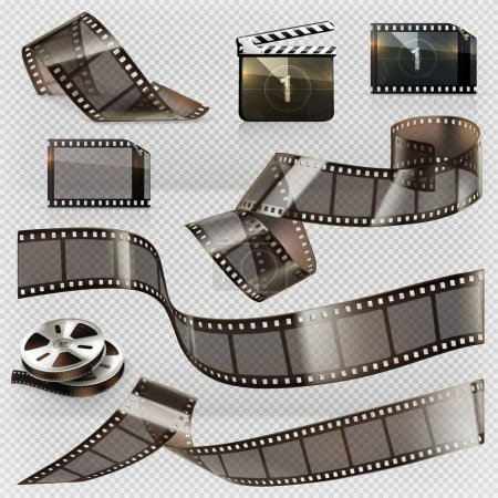 Film strips with transparency