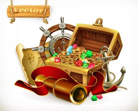 Pirate treasure. Adventure
