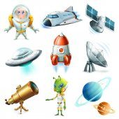 Space spaceship planet