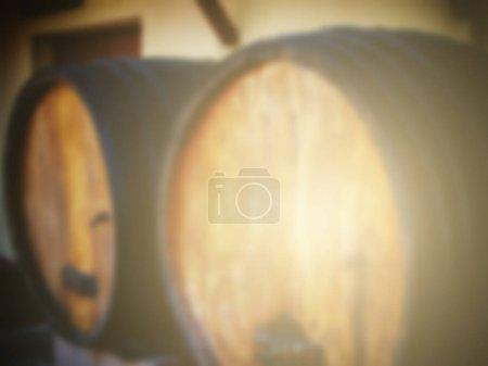 old wooden wine barrel.