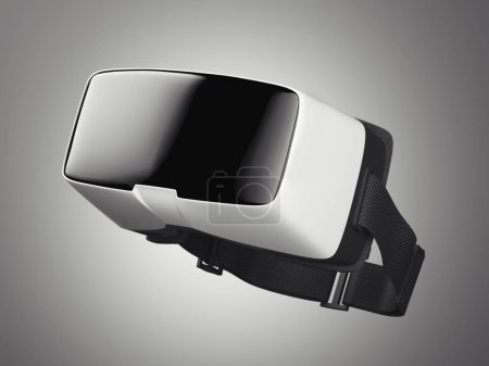 VR virtual reality headset. Side view. 3d rendering