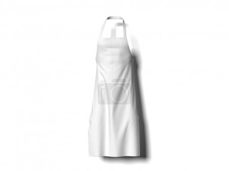 Photo for White apron isolated on white background. 3d rendering - Royalty Free Image