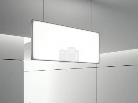 Lighting signboard. 3d rendering