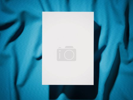 Blank white banner on a cloth. 3d rendering