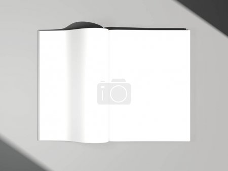Magazine with white papers. 3d rendering
