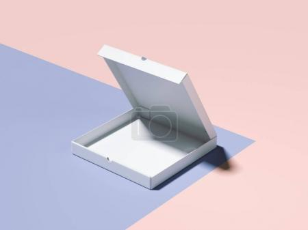 Photo for Blue-pink branding mockup with blank closed box. 3d rendering - Royalty Free Image