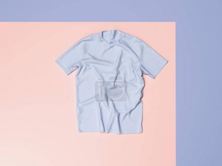 Blank t-shirt. 3d rendering