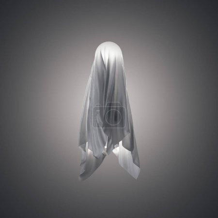 Fabric in shape a ghost. 3d rendering