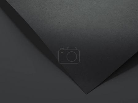 Black paper sheet. 3d rendering