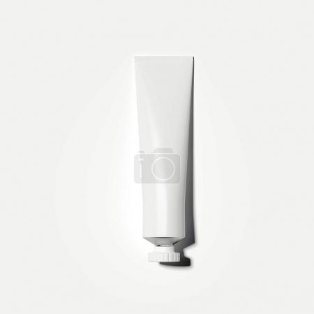 White cosmetic tube. 3d rendering