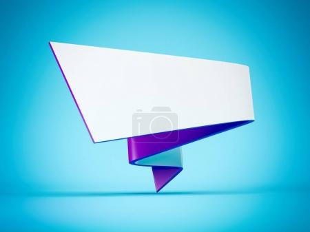 Futuristic banner isolated. 3d rendering
