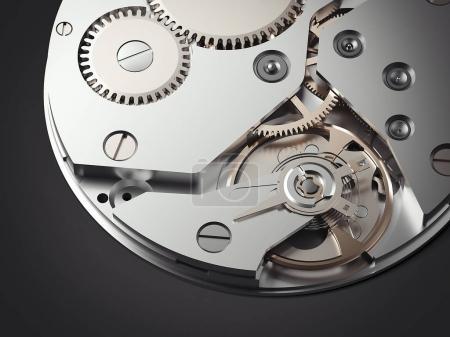 Clockwork mechanism. 3d rendering