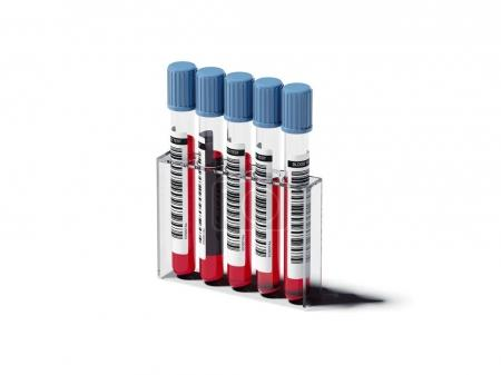 Five blood tests. 3d rendering