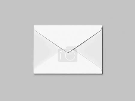 Enveloppe blanche. rendu 3D