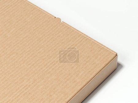 Closeup of brown carton box. 3d rendering