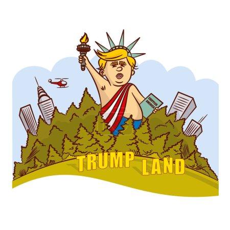 Donald Trump Image Statue of