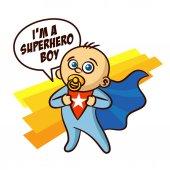 Superhero Baby Boy Sticker