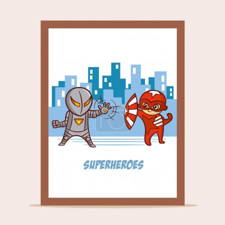 Poster Battle of Superheroes
