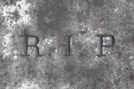 Photo pour RIP. Repose en paix. Inscription traditionnelle sur la tombe. - image libre de droit