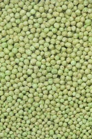 Animal food pellets.