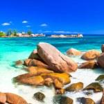 Beautiful  beach in Praslin island,Seychelles....