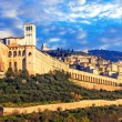Beautiful Assisi town over sunset,Umbria,Italy....