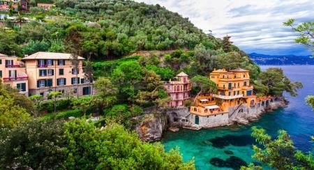 Scenic Ligurian coast of Italy - beautiful luxury Portofino.