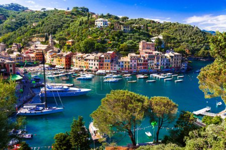 Luxury Italian vacations - beautiful Portofino in Ligurian coast.