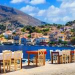 Small tavernas in Symi island,Greece....
