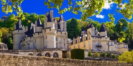 magnificent Usse castle - famous castles of Loure valley,France.
