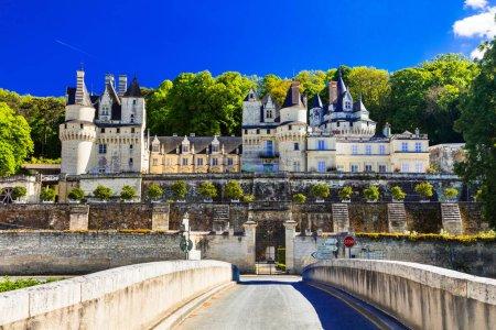 Fairytale castle Usse. Bautiful castles of Loire valley in France.