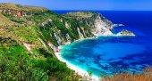Most beautiful beaches of Greece - Petani in Kefalonia island.