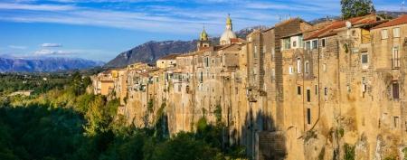 Impressive Sant' Agata de Goti village,panoramic v...