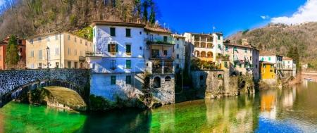 Traditional villages of Tuscany - Bagni di Lucca, Italy.