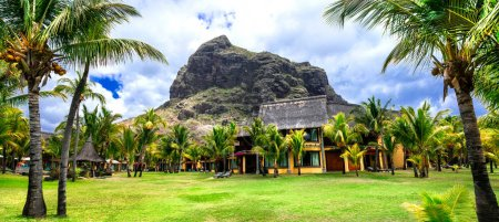 Luxury vacations in tropical paradise, Mauritius island, Le Morne.