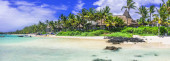 Tropical paradise in Mauritius island, Bell Mare.