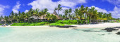 Best tropical destination - beautiful Mauritius island, Bell Mare.