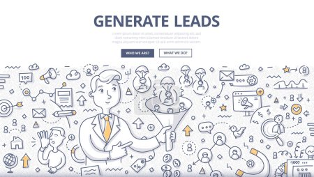 Generate Leads Doodle Concept