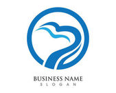 B letter wave Logo Template