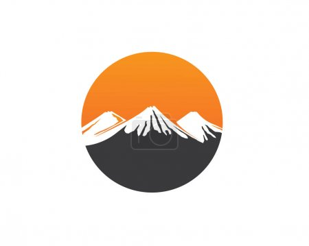 High Mountain icon  Logo Business Template Vector...