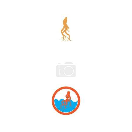 Illustration for Ginseng icon Vector Illustration design Logo template - Royalty Free Image