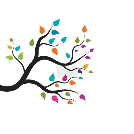 Tree branch vector ilustration design template...