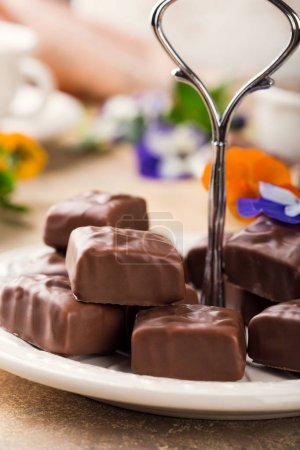 Soft nougat chocolate sweets