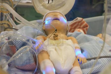 Infant dummy in neonatal intensive-care unit